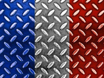 8903537-french-flag-on-a-diamond-metal-texture