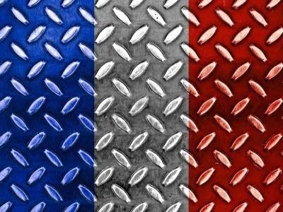 8903537-french-flag-on-a-diamond-metal-texture